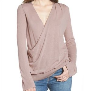 Hinge Surplice Sweater
